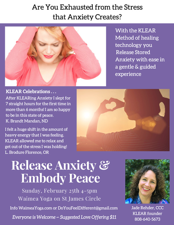 Release Anxiety and Embody Peace